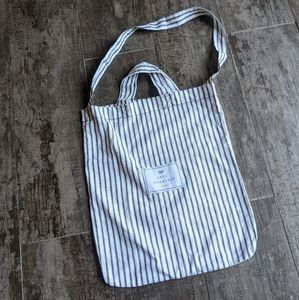 ANYA HINDMARCH Canvas Double Handle Striped Tote